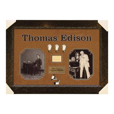 Thomas Edison // Original Ink Signature