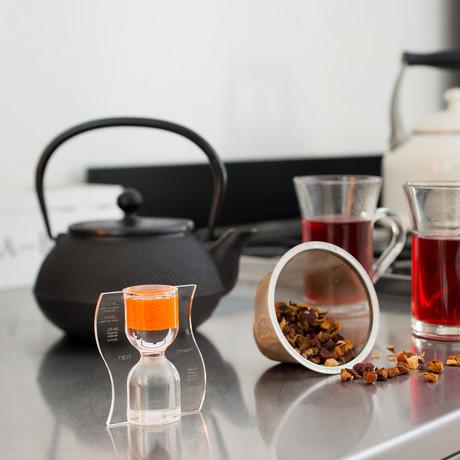 Tea Timer // Orange // Reverse Flow