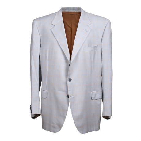 Rolling 3 Button Plaid Blazer // Blue (US: 36S)