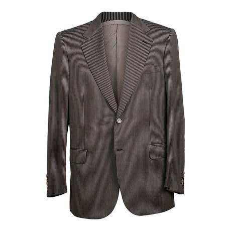 Striped 2 Button Suit // Silver (US: 36R)