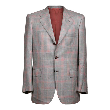 Rolling 3 Button Plaid Blazer // Gray (US: 36S)