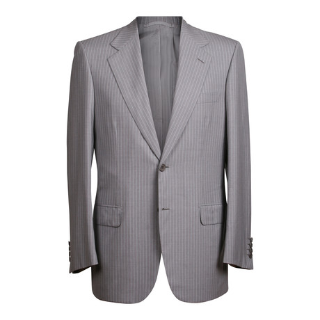 Super 180s Striped 2 Button Suit // Gray (US: 36S)