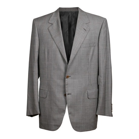 Rolling 3 Button Check Suit // Gray (US: 36S)