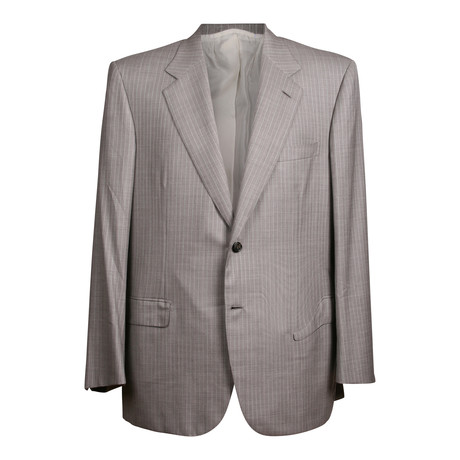 Striped 2 Button Suit // Gray // BRS5 (US: 36S)