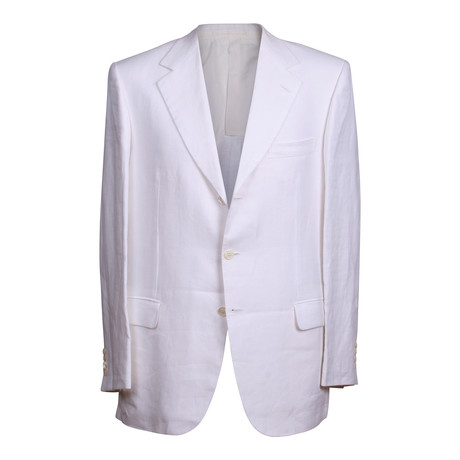 Rolling 3 Button Suit // White (US: 36S)