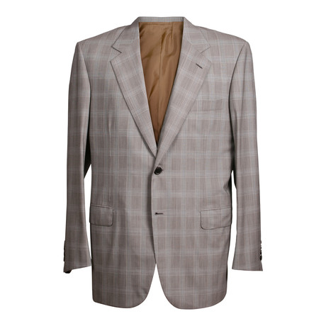 Super 150s Check 3 Button Suit // Gray (US: 36S)