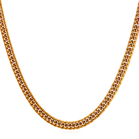 """Curbed Cuban Link Chain (22"""")"""
