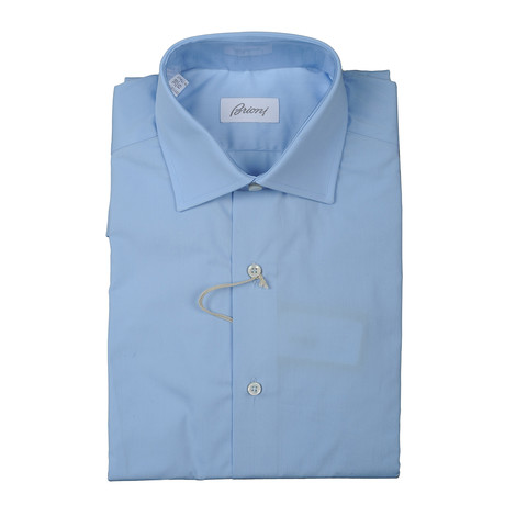 Brioni // Nathanial Dress Shirt // Blue (Euro: 38)