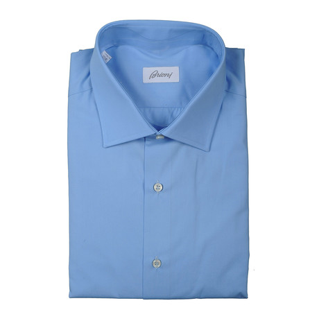 Brioni // Clifton Dress Shirt // Blue (Euro: 38)
