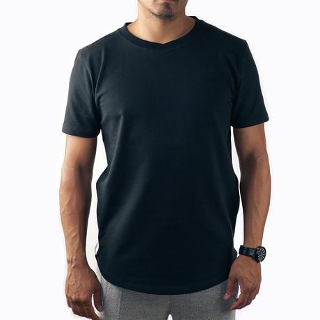 Basic Insignia Tee // Black + Black (XS)