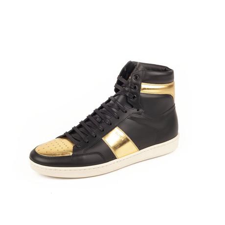Signature Court Classic SL-10H High Top Sneaker // Black + Gold (Euro: 39)