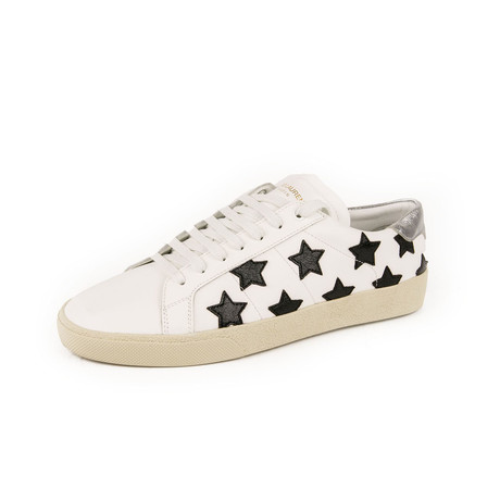 Star Embroidered Sneakers // Black + White (Euro: 39)