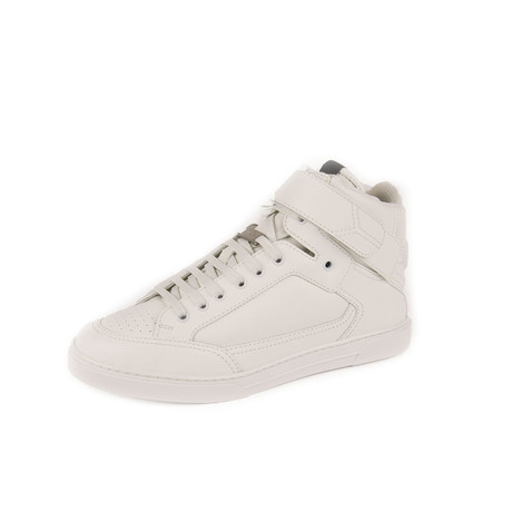 Max Scratch Mid Top Sneaker // White (Euro: 39)