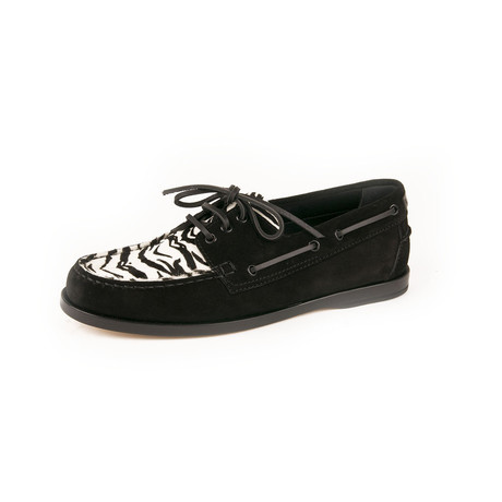 Deck 20 Loafers // Zebra + Black (Euro: 39)