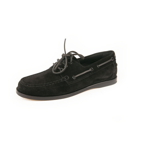 Suede Penny Loafer // Black (Euro: 39)