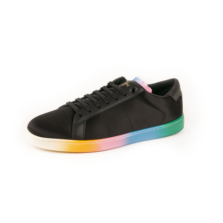 Court Classic SL-06 Low Top Sneakers // Black + Rainbow (Euro: 39)