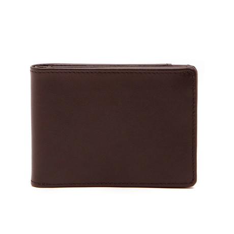Collins Calfskin Bifold Wallet // Brown