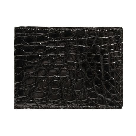 Crocodile Slimfold Wallet // Black