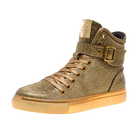 Sullivan 24K Sneaker // Gold Stretch Bark (US: 7)