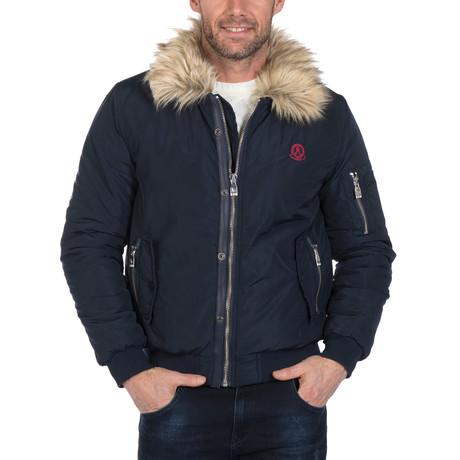 Azaria Winter Coat // Navy (S)