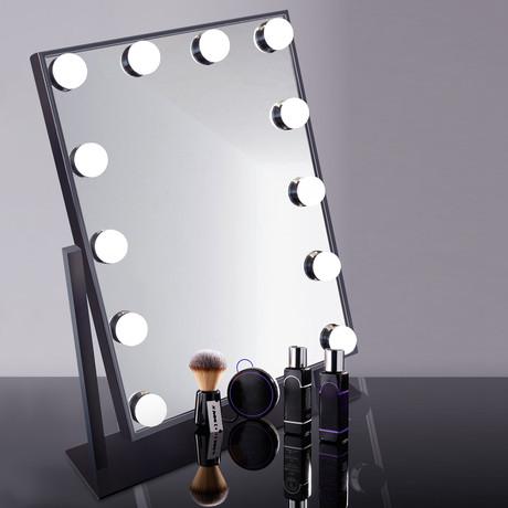 Task Lighting Mirror (Black)