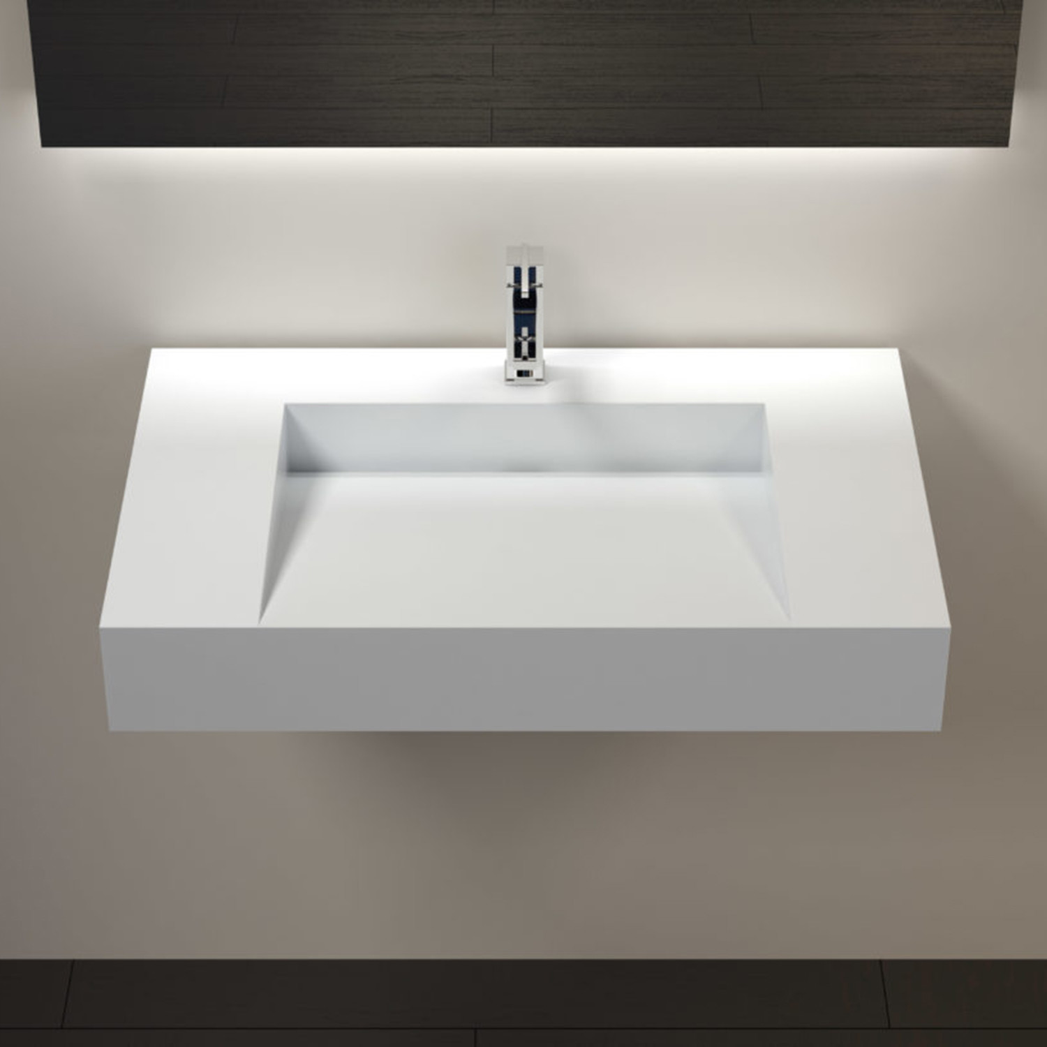 Wall Mounted Sink Wt 04 D Glossy