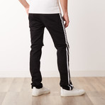 Destroyed Track Jeans // Black (34WX30L)