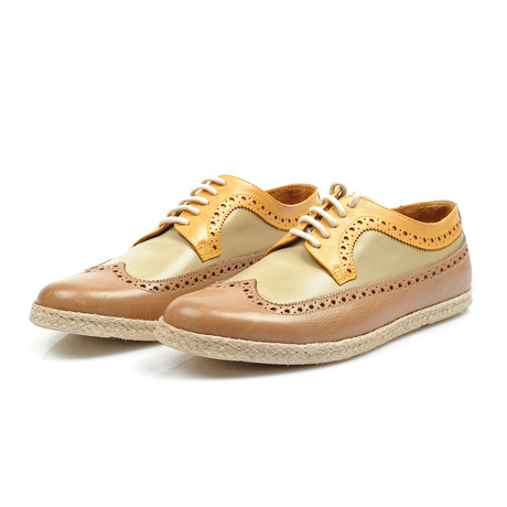 Erroll Shoe // Beige + Yellow (Euro: 38)