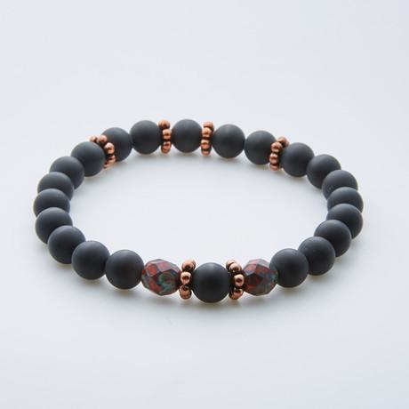 Fire Of Love Beaded Bracelet // Tanzanian Onyx