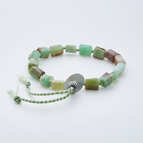 Dell Arte // Adjustable AA Grade Australian Jade Shambala Bracelet // Green