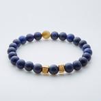 Dell Arte // Rare Tanzanian Lapis Bead Bracelet // Navy + Gold