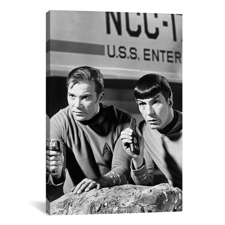 "William Shatner + Leonard Nimoy // Star Trek (26""W x 18""H x 0.75""D)"