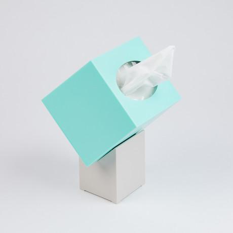 Zaforas Tissue Holder // Turquoise