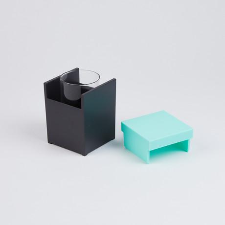 Halki Tumbler Holder // Turquoise
