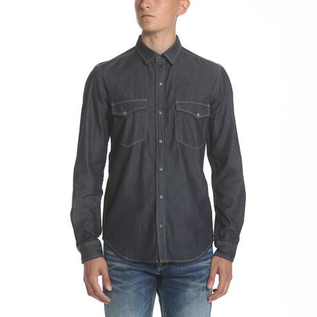 Western Denim Shirt // Dark Indigo (S)