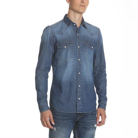 Western Denim Shirt // Medium Wash (XL)
