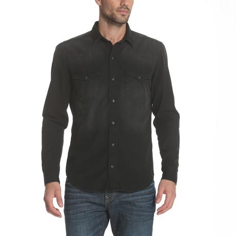 Western Denim Shirt // Black (S)