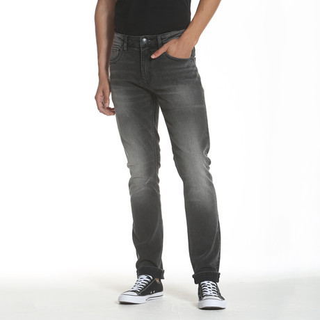 Mick 330 Slim // Short // Washed Black (30WX30L)