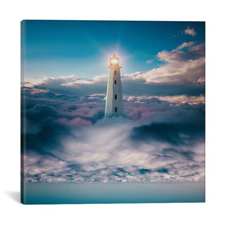"Light Skyer // Evgenij Soloviev (18""W x 18""H x 0.75""D)"