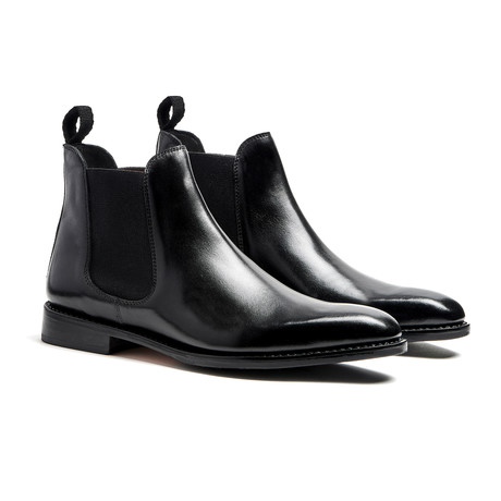 Black Chelsea Calfskin // Goodyear Welted Construction // Black (US: 7)