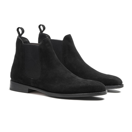 Black Chelsea Calfskin // Suede // Goodyear Welted Construction // Black (US: 7)