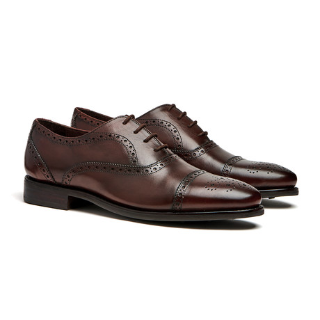 Brown Cap-Toe Brogues // Goodyear Welted Construction // Chocolate Brown (US: 7)