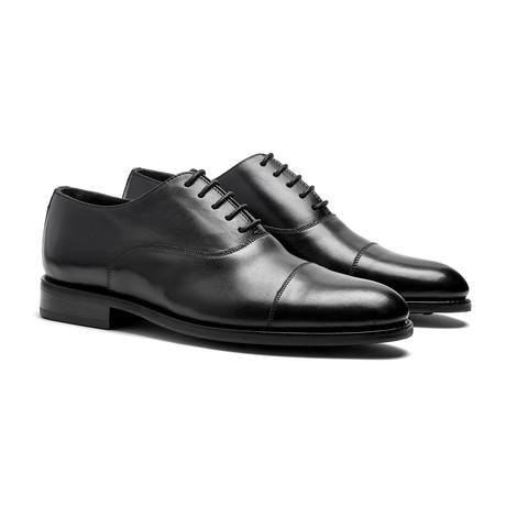 Black Cap-Toe Oxfords // Goodyear Welted Construction // Black (US: 7)