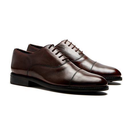 Brown Cap-Toe Oxfords // Goodyear Welted Construction // Chocolate Brown (US: 7)
