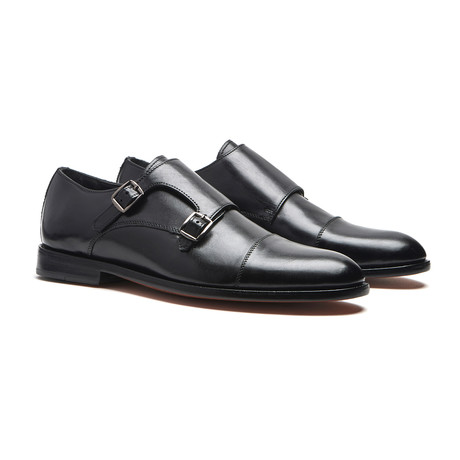 Black Double Monk // Goodyear Welted Construction // Black (US: 7)
