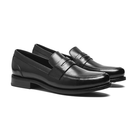 Black Penny Loafer // Goodyear Welted Construction // Black (US: 7)