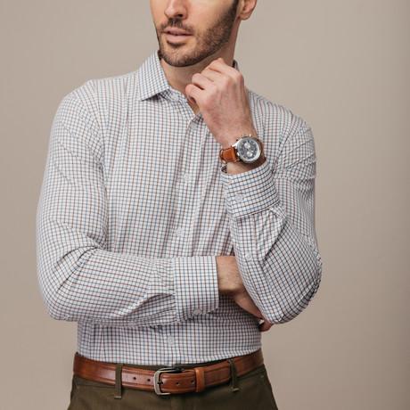 Nolan Woven Trim Fit Shirt (S)