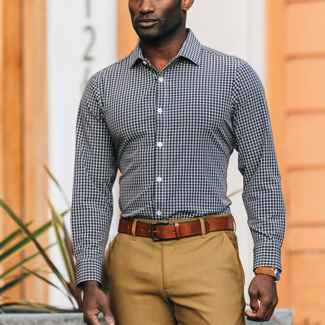 Patterson Woven Trim Fit Shirt (S)