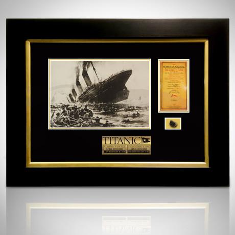 Titanic Antique 1912 Authentic Coal // Custom Frame