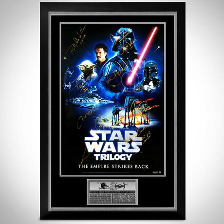 Star Wars Trilogy // Cast Signed Poster // Custom Frame